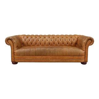 1970s Vintage Tufted Chesterfield Sofa For Sale