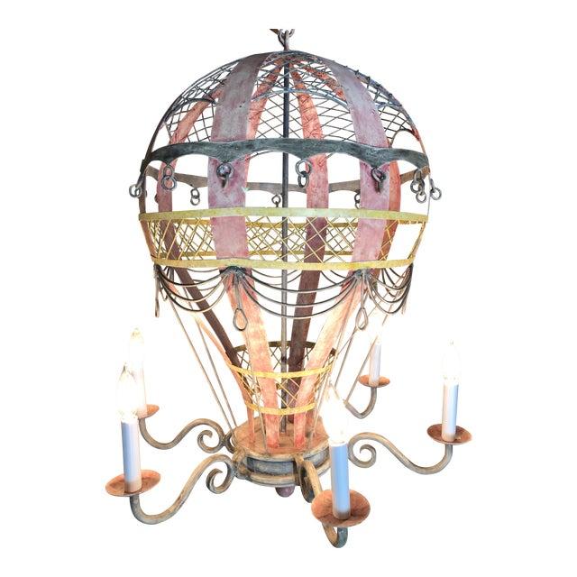 Coastal Regency Hot Air Balloon Chandelier For Sale