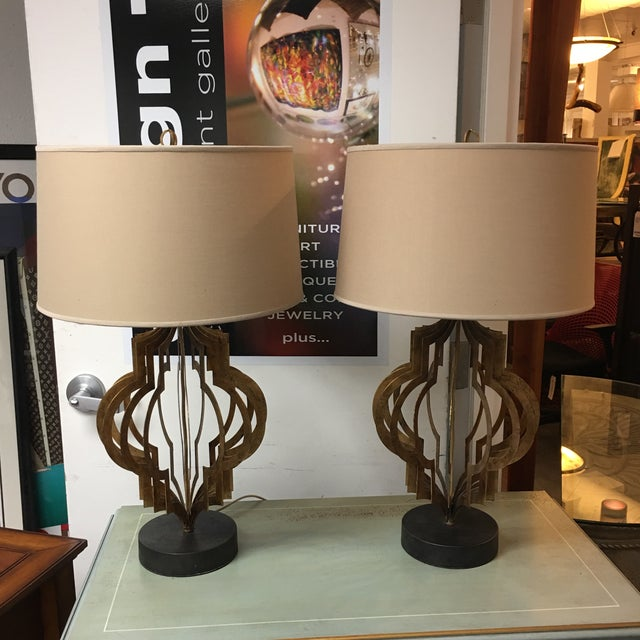 Regina Andrew Patter Maker Gold Table Lamps - A Pair - Image 8 of 9
