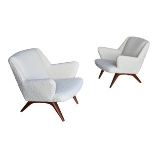 Illum Wikkelsø Lounge Chairs for A. Mikael Laursen & Søn Circa 1960 - a Pair For Sale