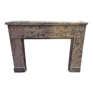 Modern Marble Mantel For Sale