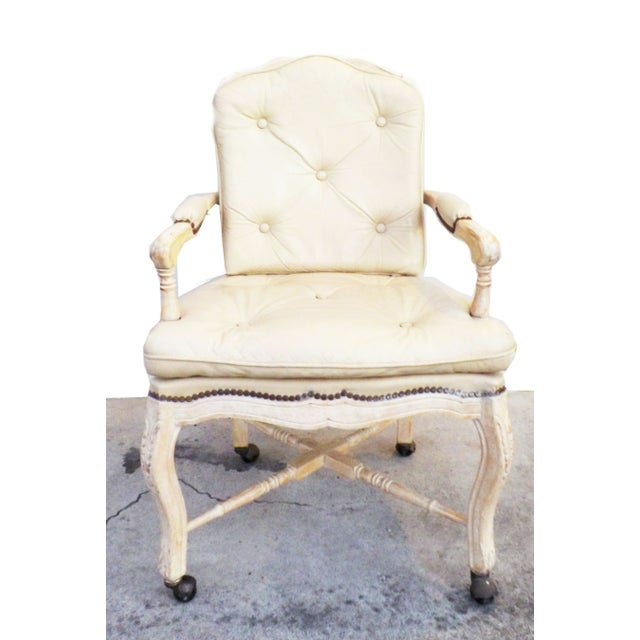 Great vintage condition. Leather shows very minimal wear. The base of the chair wood frame and has minor wear. Great...