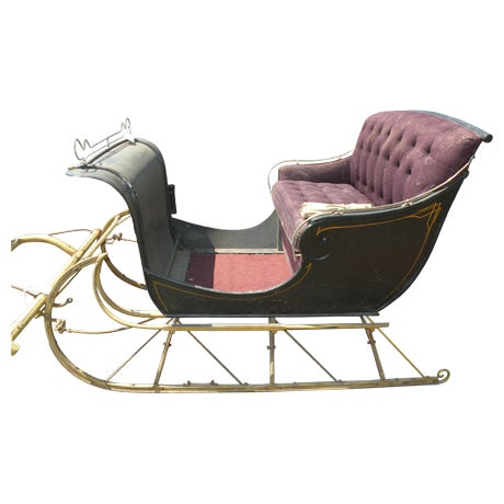 Antique Portland Cutter Sleigh Christmas Sled For Sale