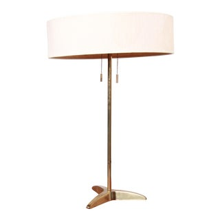 Paul McCobb Style Mid-Century Modern Brass Table Lamp by Stiffel For Sale