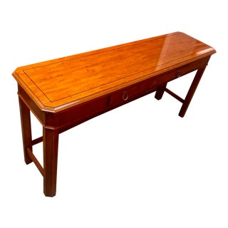 English Style Fruitwood Console Table For Sale