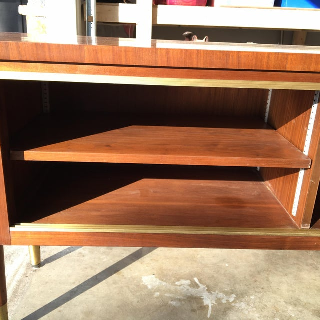 Mid-Century Modern Credenza Buffet Console Floating Top Legs - Image 5 of 10