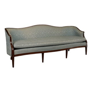 Hickory Chair Federal Style Long Mahogany Sofa For Sale