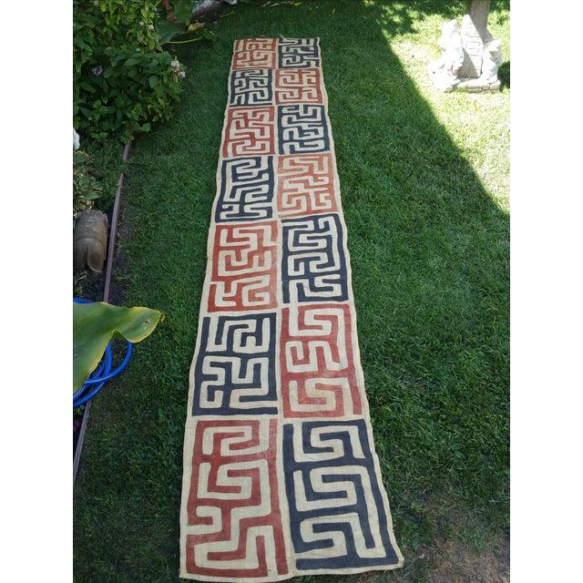Handmade African Kuba Cloth Fabric - Image 3 of 3