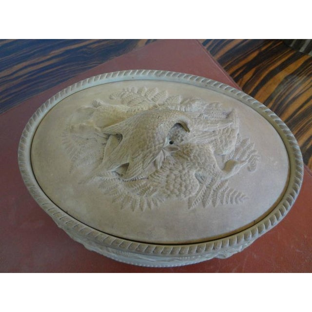 Antique French Caneware Game Pie Dish For Sale - Image 4 of 11