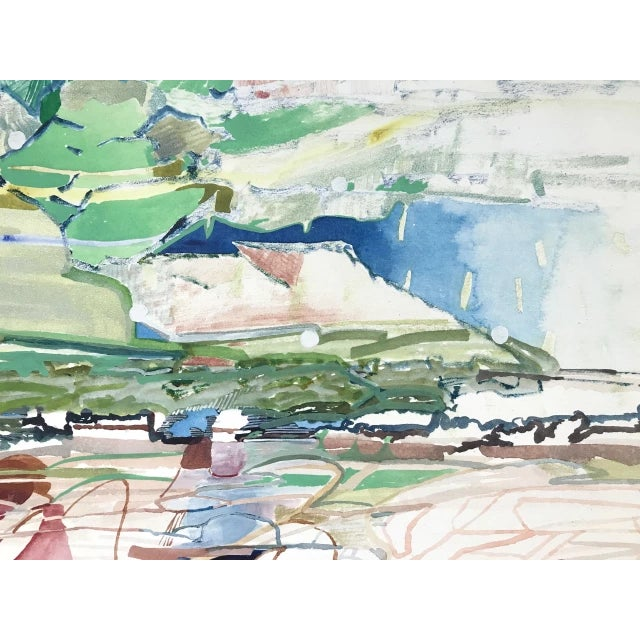 Painting in watercolor on paper by Josette Urso. 22 x 30 in. urso182