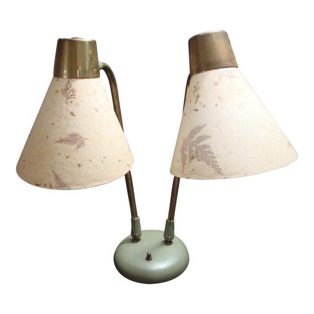 Industrial Adjustable Desk Lamp With Leaf Shades - Image 1 of 5