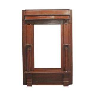 Wooden Entryway Hall Tree With Seat For Sale