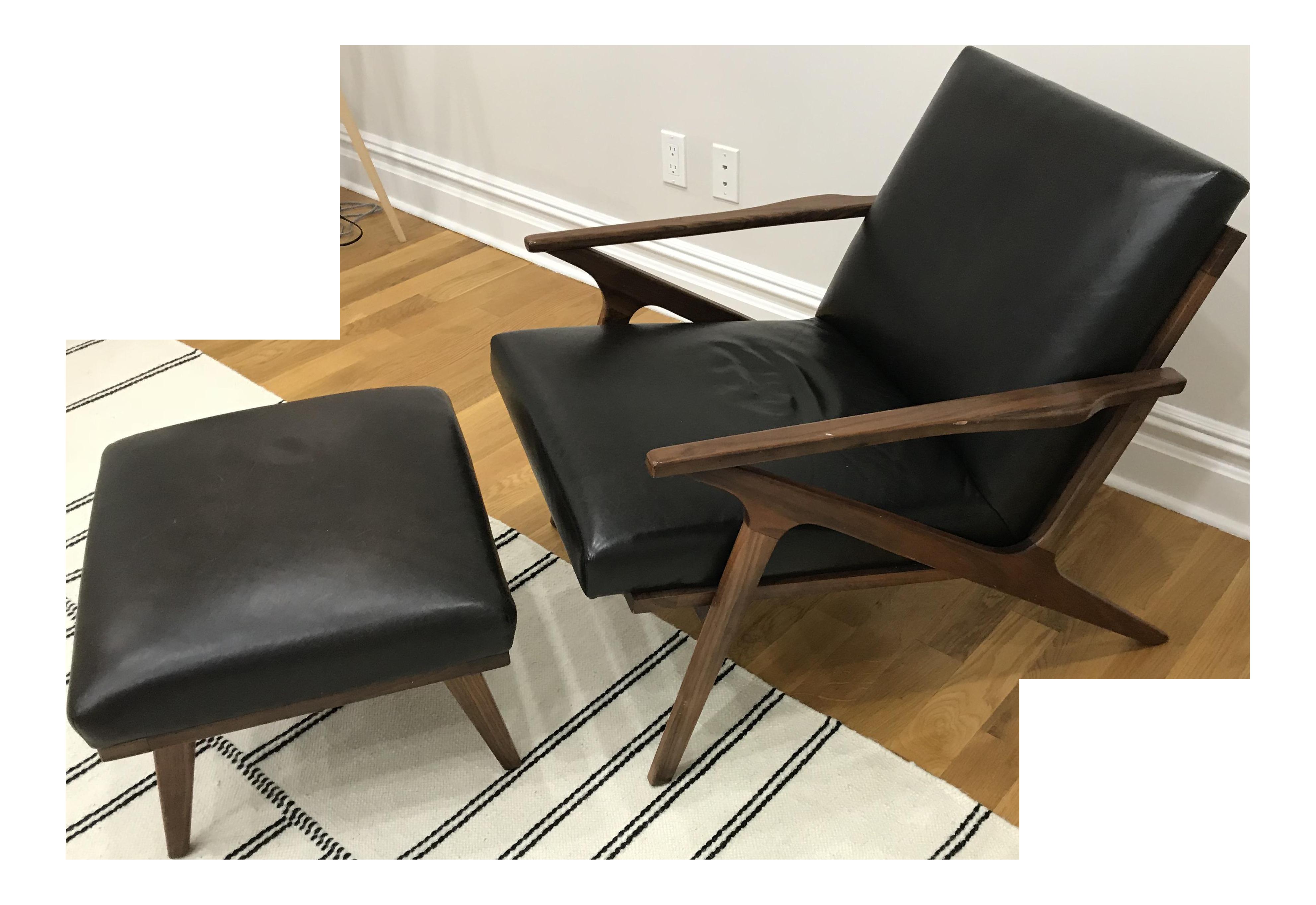 Cavett Leather Chair U0026 Ottoman