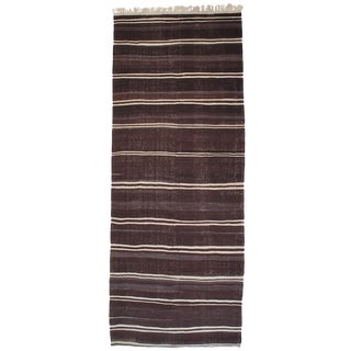 Massive Banded Kilim Wide Runner For Sale