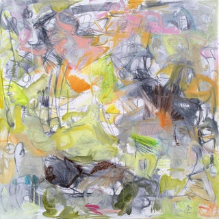 """Garden"" by Trixie Pitts Abstract Expressionist Oil Painting For Sale"