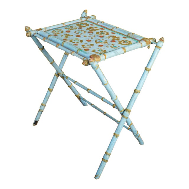 Antique Painted Tray Table For Sale