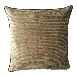 Olive Green Chenille Pillow