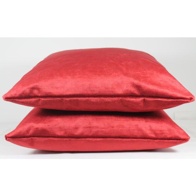 Italian Silk Velvet Pillow Covers - a Pair - Image 4 of 4