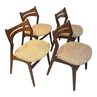 Mid-Century Modern Erik Buck Stylized Model #310 Dining Chairs - Set of 4 For Sale