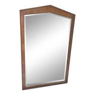 Large and Impressive Henredon Neoclassical Style Olive Wood Mirror For Sale