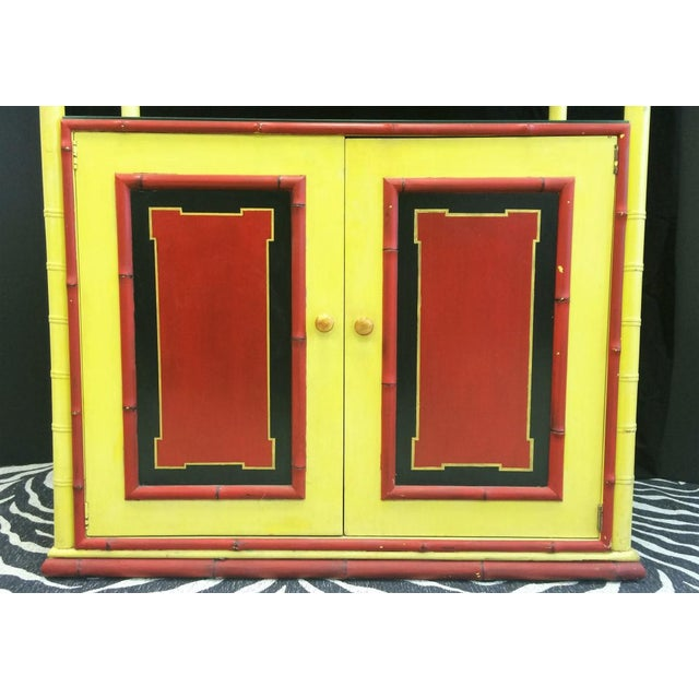 Palm Beach Chinoiserie Pagoda Display Cabinet For Sale - Image 4 of 8