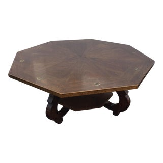 Vintage Drexel Hispania Octagonal Coffee Table