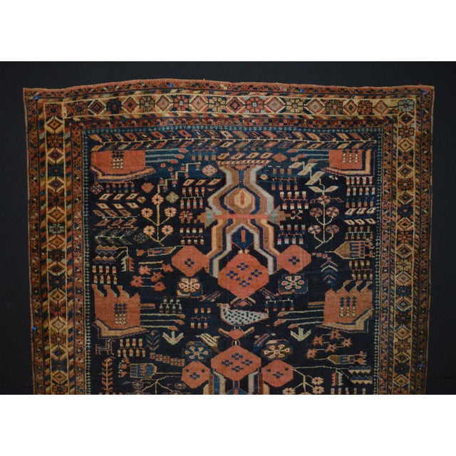 "Antique Persian Rug - 4'5"" x 4'10"" - Image 3 of 7"