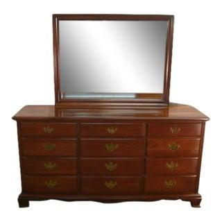 Chautauqua Colonial Solid Cherry Dresser W/ Mirror For Sale