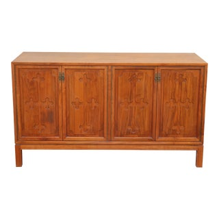 Vintage Walnut Small Credenza For Sale