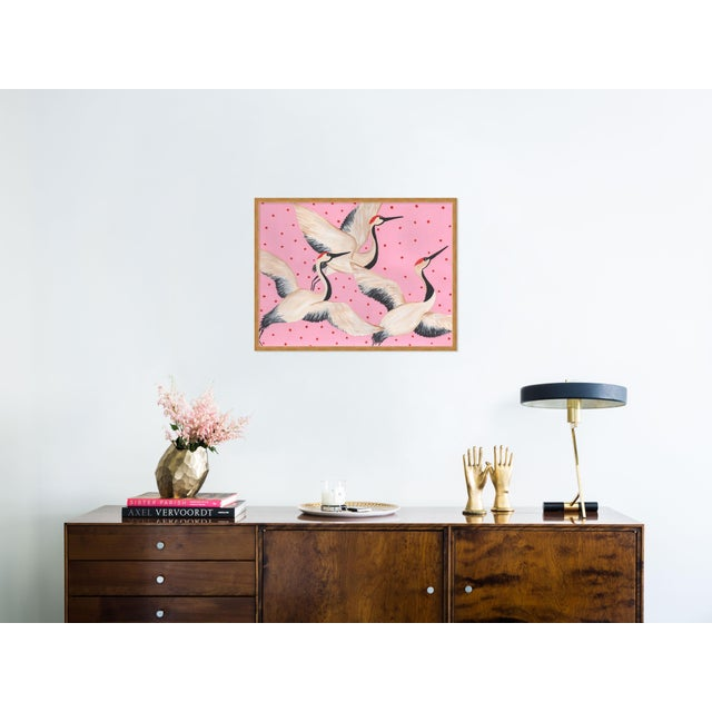 Contemporary Babette, Cleo & Estelle Rouleau by Willa Heart in Gold Framed Paper, Large Art Print For Sale - Image 3 of 4