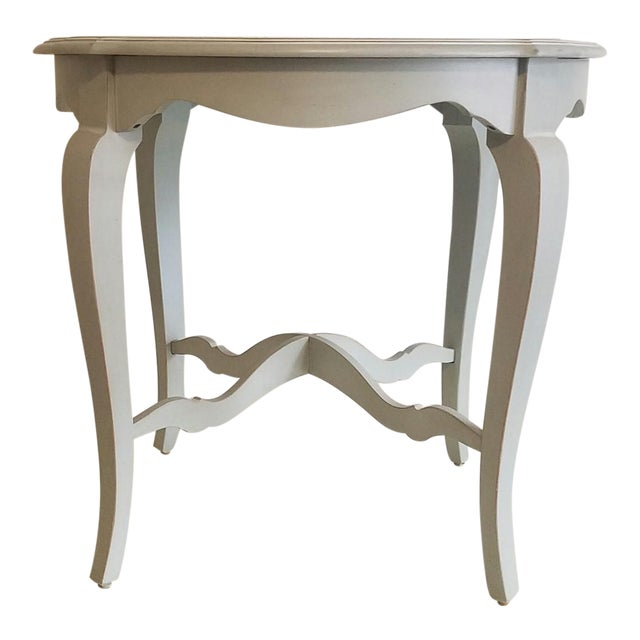 Ethan Allen Fabian Robin's Egg Blue Finish Accent Table For Sale
