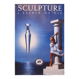 1994 Vintage Perfume Advertisement Poster, Sculpture by Nikos