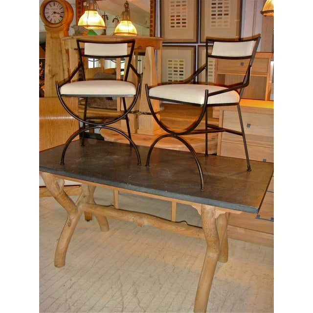 Pair of Mid Century Iron Chairs - Image 8 of 8