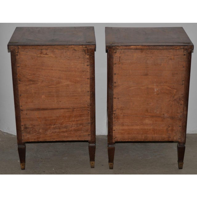 Brown Pair of Magnificent Late 18th to Early 19th Century Walnut Side Tables W/ Cabinets For Sale - Image 8 of 9