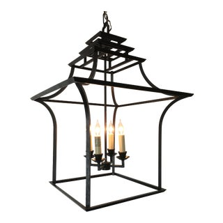 E.F. Chapman for Visual Comfort Brighton Pagoda Lantern Pendant For Sale