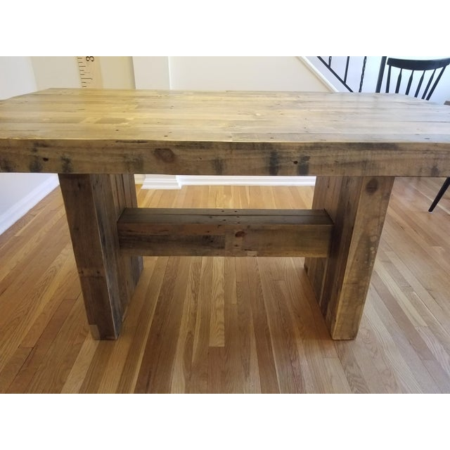 West Elm Emmerson Reclaimed Pine Dining Table Chairish - West elm emmerson coffee table