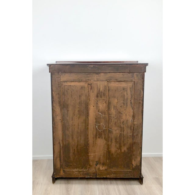 Wood Wellington Secretary Chest of Drawers, England Circa 1840 For Sale - Image 7 of 11