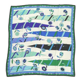 Vintage Mid-Century Modern Silk Scarf by Emilio Pucci , Italy For Sale