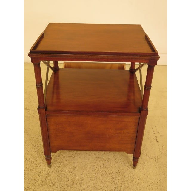 Vintage Ethan Allen 2 Drawer Mahogany Side Table For Sale - Image 9 of 12