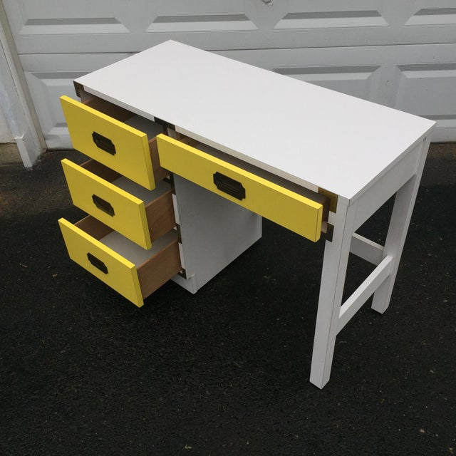Mid-Century Modern Campaign Desk - Image 4 of 11