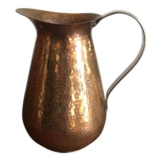 Vintage Hammered Copper Pitcher