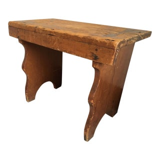 Antique English Farmhouse Wooden Bench