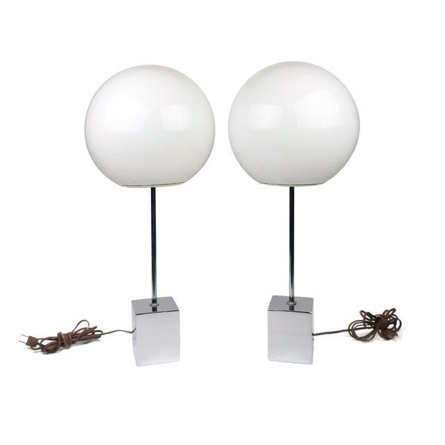 Pair of Sonneman Lollipop Table Lamps For Sale - Image 9 of 9