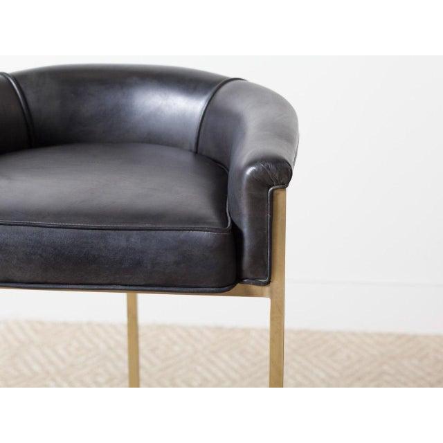 "Bauhaus Hollywood Regency ""Claudio"" Brass Barstool For Sale - Image 3 of 6"