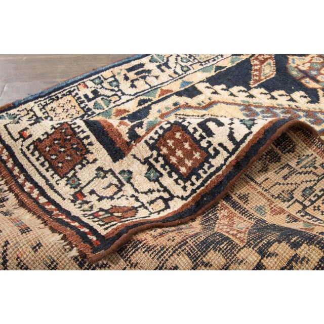 "Boho Chic Vintage Apadana Persian Rug - 2'8"" X 10'1"" For Sale - Image 3 of 3"