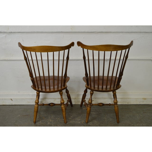Nichols & Stone Set of 6 Windsor Style Dining Chairs - Image 7 of 10