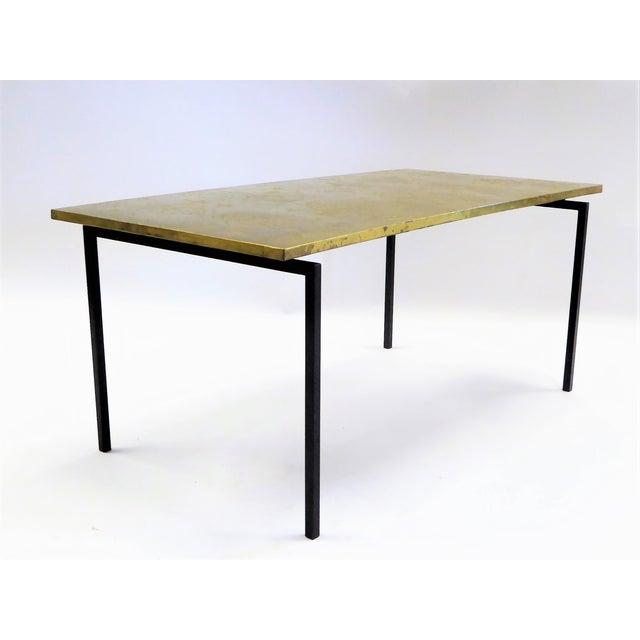 Danish Modern MidCentury Modern Raymor Scandinavian Repousse Brass Coffee Table 1960s For Sale - Image 3 of 13