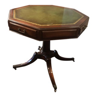 Early 20th Century Weiman Regency Leather Top Table For Sale