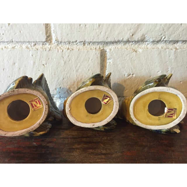 Vintage Napco Turkey Candle Holders - Set of 3 For Sale - Image 7 of 11