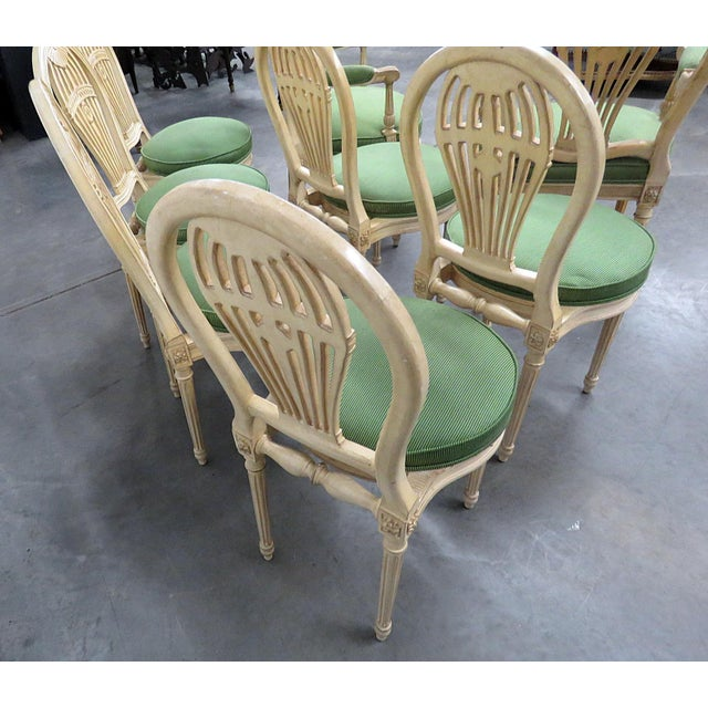 Vintage Mid Century Maison Jansen Style Dining Chairs- Set of 8 For Sale In Philadelphia - Image 6 of 8